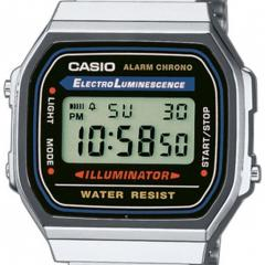 CASIO A168WA-1YES DIGITAALIRANNEKELLO RETRO